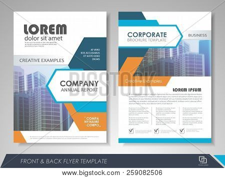 Blue And Orange Modern Brochure Design, Brochure Template, Brochures, Brochure Layout, Brochure Cove