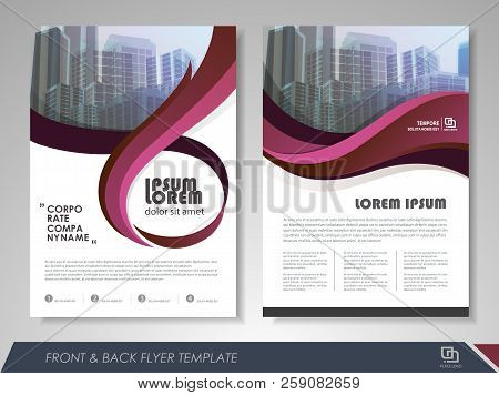 Red Annual Report Brochure Flyer Design Template. Leaflet Cover Presentation Abstract Background For