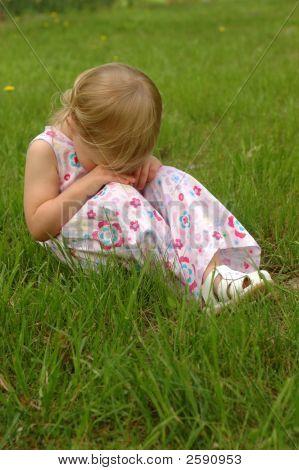 Little Blonde Girl, Sad