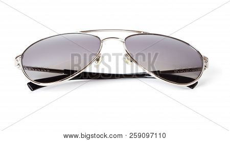 Classic Pilot Sun Glasses Isolated On White Background