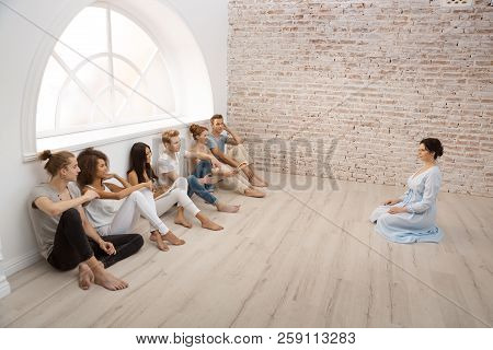 Group Therapy Session For Couples With Trust Issues. Talk Out Your Problem. Young Married Couples Ha