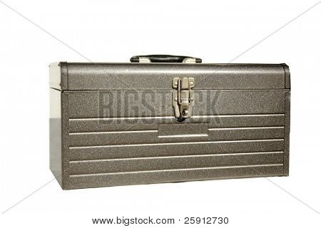 metal tool box isolated on white