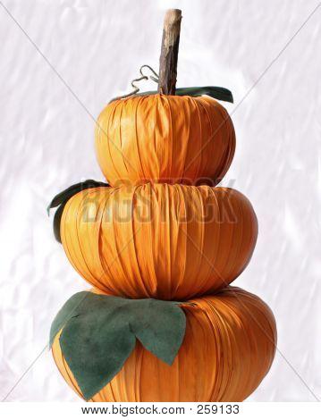 Pumpkin Decoration On White F