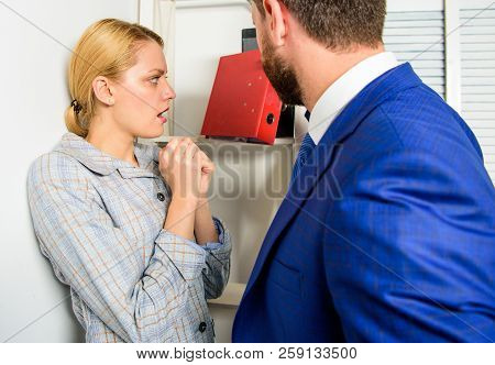 Boss Unacceptable Behavior Subordinate Employee. Prevalence Of Sexual Assault And Harassment At Work