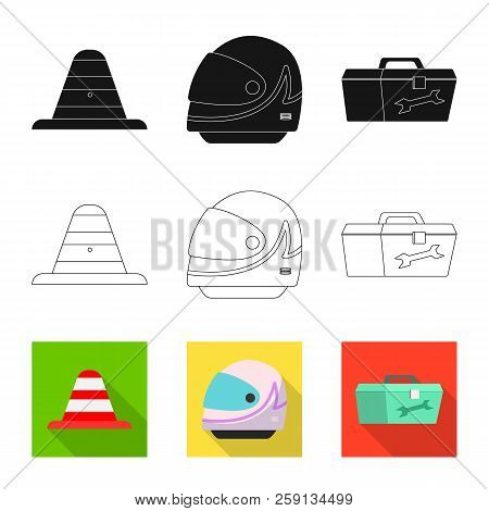 Vector Illustration Of Car And Rally Logo. Collection Of Car And Race Stock Symbol For Web.