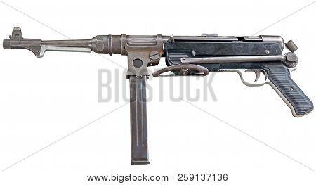 the MP38/40 submachine gun on white background poster