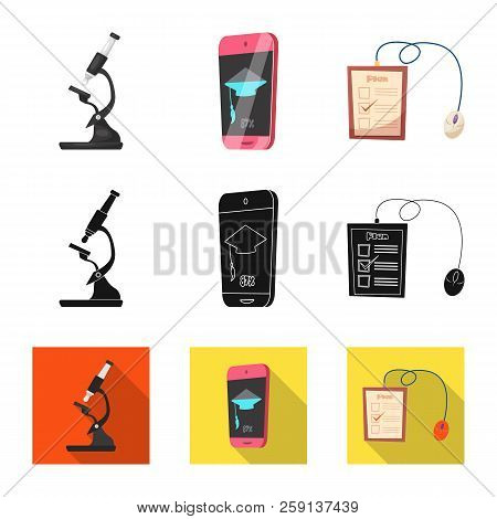 Isolated Object Of Education And Learning Sign. Collection Of Education And School Stock Vector Illu