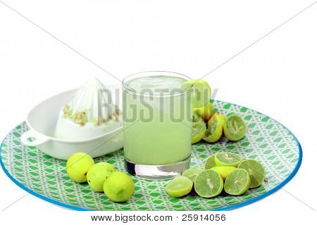 Fresh Squeezed Limeade  isolated on white