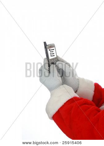 Santa Claus Text Messages isolated on white room for text