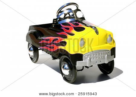 childs generic metal pedal car
