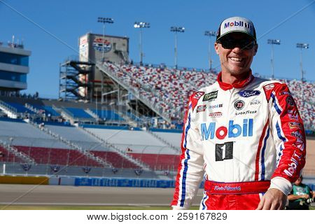 September 14, 2018 - Las Vegas, Nevada, USA: Kevin Harvick (4) hangs out on pit road before qualifying for the South Point 400 at Las Vegas Motor Speedway in Las Vegas, Nevada.
