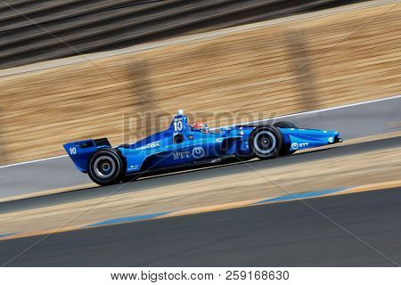 September 14, 2018 - Sonoma, California, USA: ED JONES (10) of the United Arab Emirates takes to the track to practice for the Indycar Grand Prix of Sonoma at Sonoma Raceway in Sonoma, California.