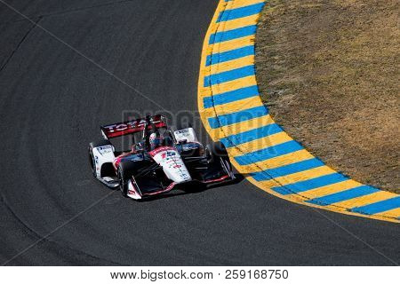 September 14, 2018 - Sonoma, California, USA: GRAHAM RAHAL (15) of the United States takes to the track to practice for the Indycar Grand Prix of Sonoma at Sonoma Raceway in Sonoma, California.