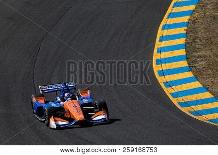 September 14, 2018 - Sonoma, California, USA: SCOTT DIXON (9) of New Zealand takes to the track to practice for the Indycar Grand Prix of Sonoma at Sonoma Raceway in Sonoma, California.