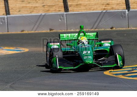 September 14, 2018 - Sonoma, California, USA: SPENCER PIGOT (21) of the United States takes to the track to practice for the Indycar Grand Prix of Sonoma at Sonoma Raceway in Sonoma, California.