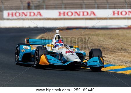 September 14, 2018 - Sonoma, California, USA: COLTON HERTA (88) of the United States takes to the track to practice for the Indycar Grand Prix of Sonoma at Sonoma Raceway in Sonoma, California.