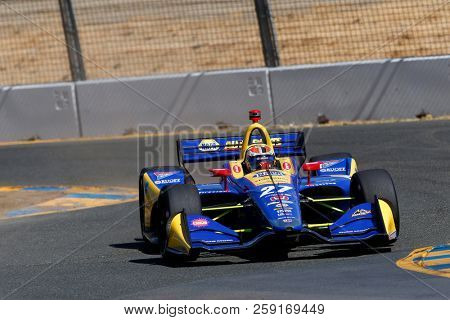 September 14, 2018 - Sonoma, California, USA: ALEXANDER ROSSI (27) of the United States takes to the track to practice for the Indycar Grand Prix of Sonoma at Sonoma Raceway in Sonoma, California.
