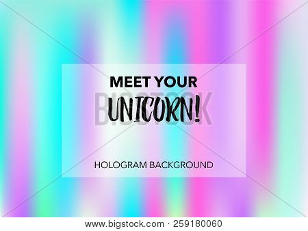Magic Hologram Lights Vector Background. Bright Trendy Tender Pearlescent Glam Overlay. Vibrant Holo