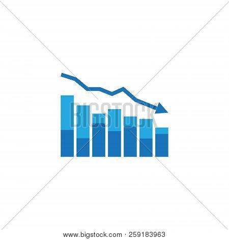 Arrow Decrease Icon. Dollar Money Fall Down Symbol. Economy Stretching Rising Drop. Business Lost Cr