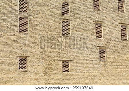 Back View Of Wall In Arabian Miri-arab Madrassah, Bukhara.