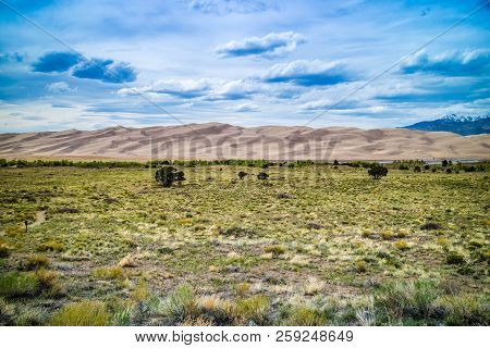 Sand Dunes In Great Sand Dunes National Park And Preserve, Colorado