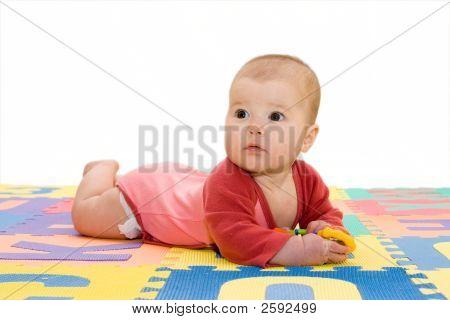 Baby Girl At Playground