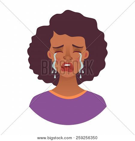 Portrait Of African Woman. Emotions Of African American Woman Face. Facial Expression. African Girl