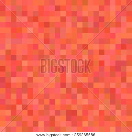 Pixel Square Tiled Mosaic Background - Geometrical Vector Graphic Design From Colored Squares