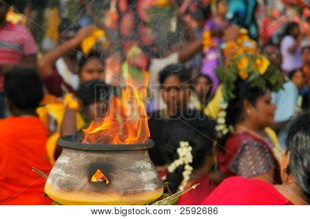Fire Bowl At Indian Festival