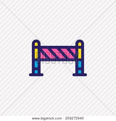 Vector Illustration Of Barrier Icon Colored Line. Beautiful Architecture Element Also Can Be Used As