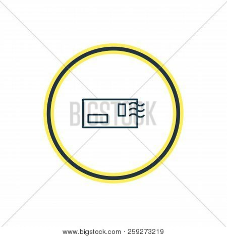 Vector Illustration Of Postcrossing Icon Line. Beautiful Entertainment Element Also Can Be Used As E