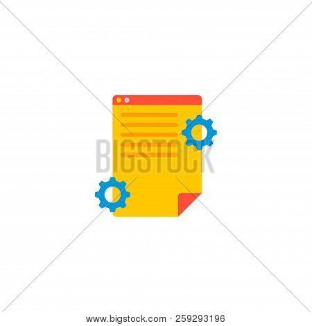 Project Brief Icon Flat Element.  Illustration Of Project Brief Icon Flat Isolated On Clean Backgrou
