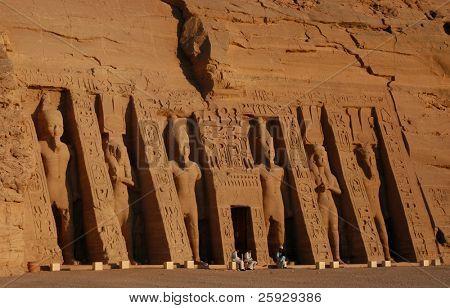 Hathor Temple of Queen Nefertari in Abu Simbel near Aswan, Egypt