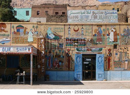 Souvenir store in Luxor, Egypt
