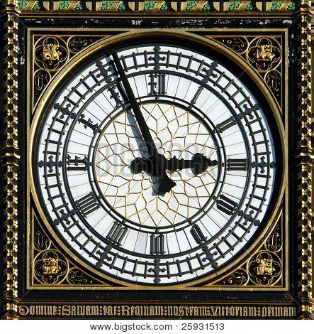 Dial of the Big Ben in London, UK