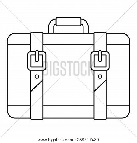 Trip Leather Bag Icon. Outline Illustration Of Trip Leather Bag Icon For Web Design Isolated On Whit