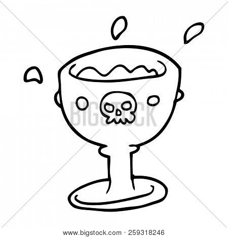 Spooky Line Drawing Image Photo Free Trial Bigstock