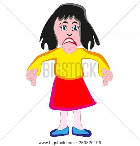 Very wicked ugly and nasty woman isolated by white background. poster