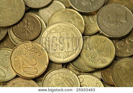 Golden coins texture