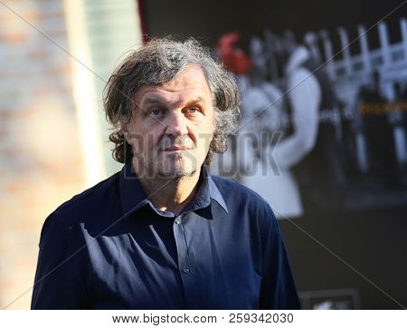 Emir Kusturica walks the red carpet ahead of the 'Vox Lux' screening during the 75th Venice Film Festival at Sala Grande on September 4, 2018 in Venice, Italy.
