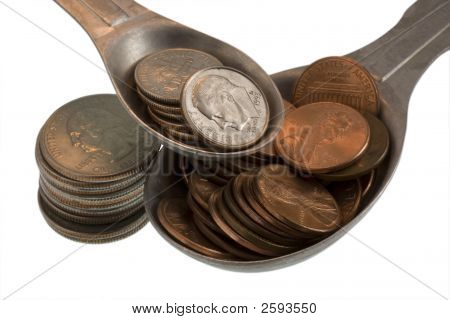 Wealth Recipe Ingredients - Pennies, Dimes, Quarters