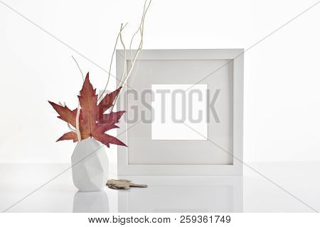 Autumn Photo Frame Mockup