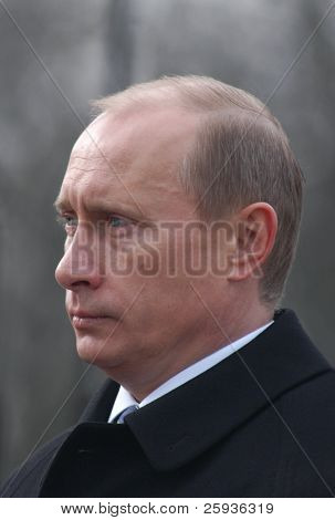 PRAGUE - MARCH 3: Russian Prime Minister Vladimir Putin during his official visit on March 3, 2010 in Prague, Czech Republic,