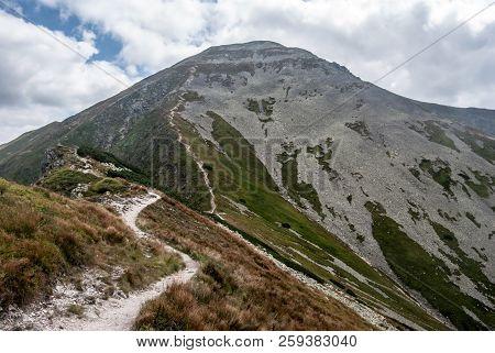 Voloec Mountain Peak On Rohace Mountain Group In Western Tatras Mountains On Slovakian - Polish Bord