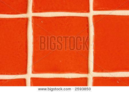 ceramic wall texture with white fugue in red poster