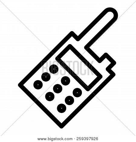 Portable Radio Line Icon. Communication Illustration Isolated On White. Transmitter Outline Style De