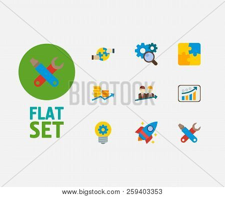 Partnership Icons Set. Cooperation And Partnership Icons With Successful Partnership, Finance And Re