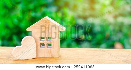 House With A Wooden Heart. House Of Lovers. Affordable Housing For Young Families. Valentine's Day H