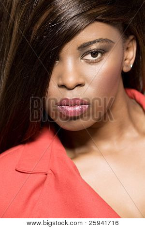 Attractive young african-american girl.