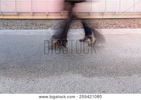 Motion Blur Of Two Pairs Of Legs For Backgrounds